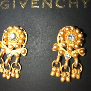 Givenchy earrings dangle gold tone 22kt